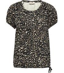 fqbetina-ss-wild blouses short-sleeved svart free/quent