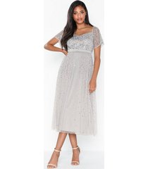 maya embellished bardot mini dress paljettklänningar