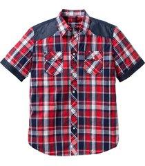 camicia a manica corta regular fit (rosso) - john baner jeanswear