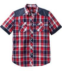 camicia a maniche corte (rosso) - john baner jeanswear
