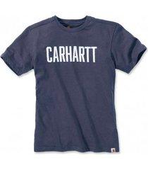 carhartt t-shirt men block logo s/s indigo heather-l