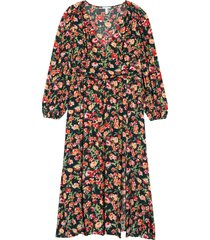 plus size women's leith floral print long sleeve dress, size 4x - green
