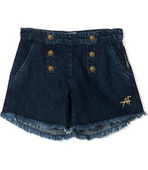 alberta ferretti high waist shorts with buttons