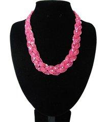 collar artesanal rosa sasmon cl-12373