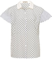 blouse met korte vleugelmouwtjes van uta raasch multicolour