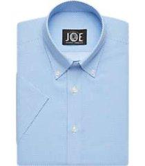 joe joseph abboud repreve® blue diamond short sleeve slim fit dress shirt