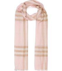 check print eyelash fringe wool blend scarf
