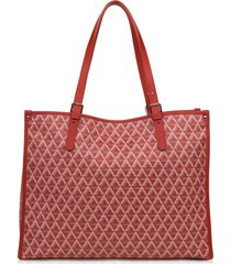 lancaster paris designer handbags, xl ikon coated canvas tote bag