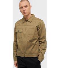selected homme slhethan zip jacket w jackor ljus brun