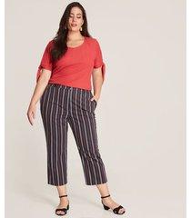 pantalon mujer capri rayas