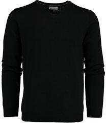 bos bright blue aron v-neck pullover flat kni 19305ar25bo/990 black
