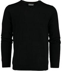 bos bright blue pullover merinowol zwart 19305ar25bo/990 black