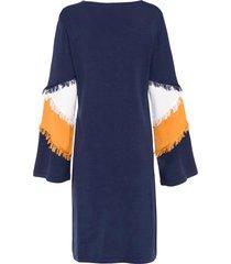 gebreide jurk met franjes
