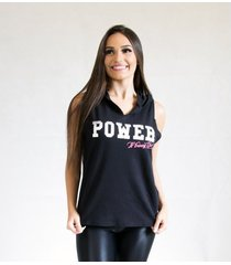 camiseta regata fit training brasil c/ capuz power feminina