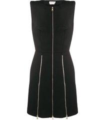 alexander mcqueen zip-detail dress - black
