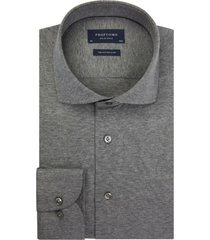 profuomo heren overhemd single jersey knitted slim fit