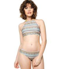 bikini tipo top máncora étnico turquesa calypsonia