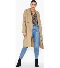 topshop camel double breasted coat kappor