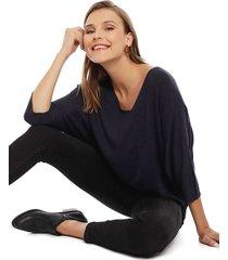 sweater privilege azul - calce oversize