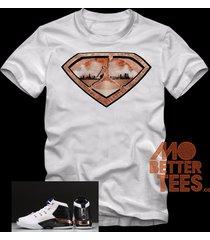 custom printed 17 copper jordans white t-shirt made to match retro 17 copper