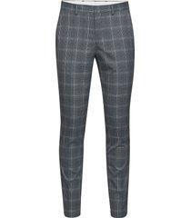 slhslim-mylologan lt blue chk trs b noos kostymbyxor formella byxor grå selected homme