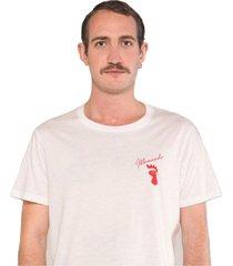camiseta albedrío slim mamando gallo blanco