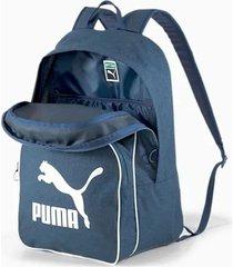 mochila azul puma retro woven