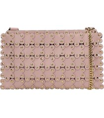 red valentino clutch in rose-pink leather