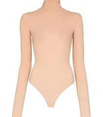 alix nyc warren roll-neck bodysuit - neutrals