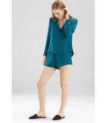 bardot satin notch pajamas, women's, green, size m, josie