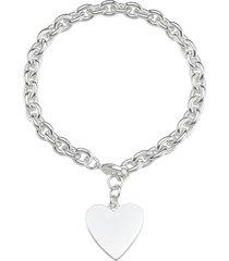bracciale cuore in metallo in stile boho chic per donna