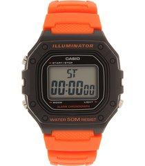 reloj negro-naranja casio