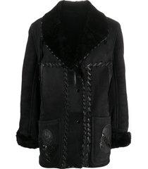 a.n.g.e.l.o. vintage cult 1980s shawl collar coat - black