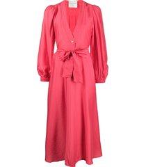 forte forte modal-blend belted dress - pink