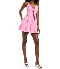 women's amy lynn sleeveless cutout playsuit, size medium - pink