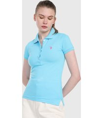 polo azul aguamarina us polo assn