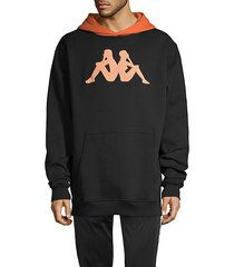 regular-fit graphic cotton-blend hoodie