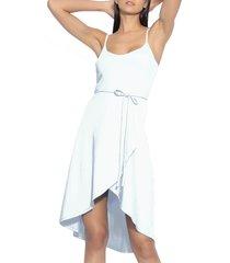 women's susana monaco tie waist sleeveless dress, size x-small - white