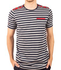 camiseta rayas cuello redondo gris medio ref. 108041119