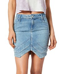 tempest front-vent denim mini skirt