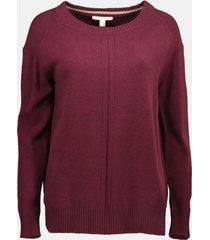 sweater en mezcla de algodón rojo esprit