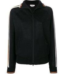 isabel marant étoile high neck track jacket - black