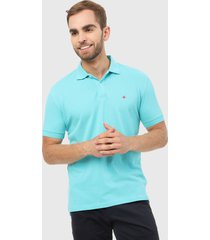 polo azul aguamarina brooksfield