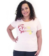 blusa plus for you viscolycra com estampa feminina