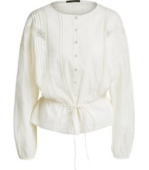 blouse met trekkoord stradia  naturel