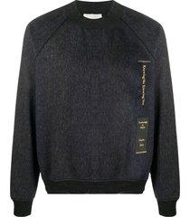 stephan schneider embroidered wool sweatshirt - grey