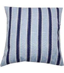 capa para almofada listrada 43x43cm azul