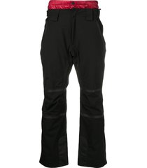 moncler padded waistband cargo trousers - black