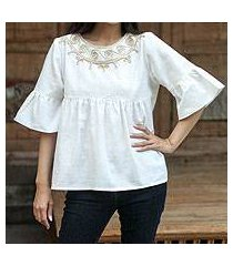 cotton blouse, 'sugar chic' (thailand)