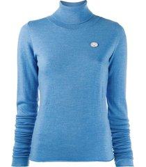 société anonyme turtleneck sweatshirt - blue